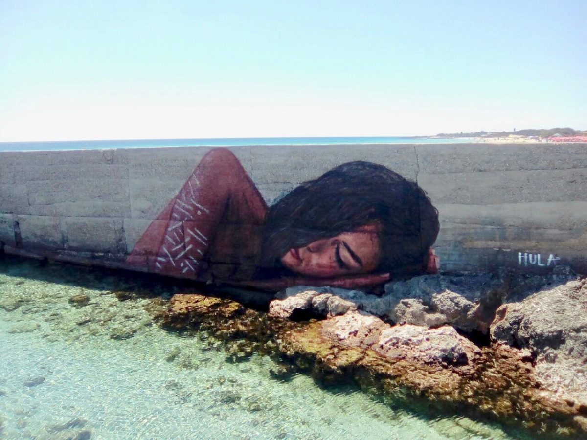 La street art di Hula apparsa nel Salento